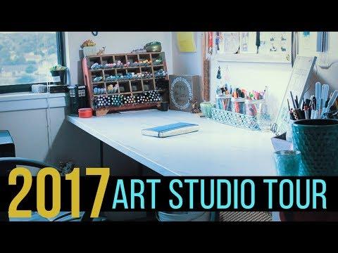 2017 ART ROOM / WORKSTATION TOUR! | WELCOME TO MY ART STUDIO!