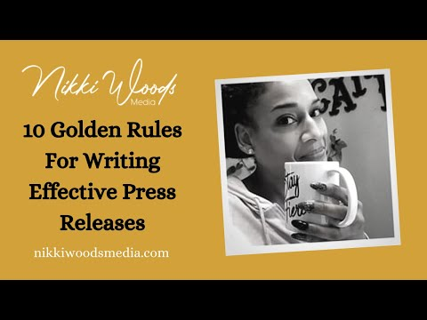 10 Rules For Writing Effective Press Releases