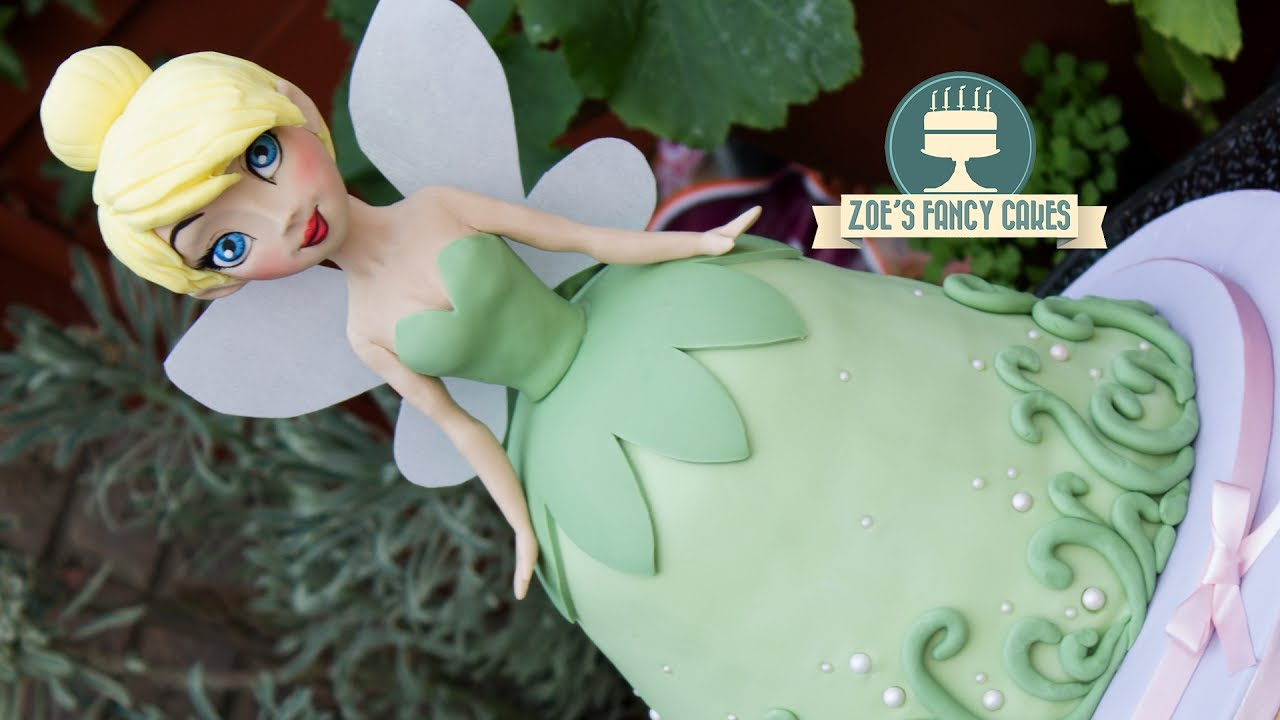 Tinkerbell Doll Cake Disney Princess Youtube