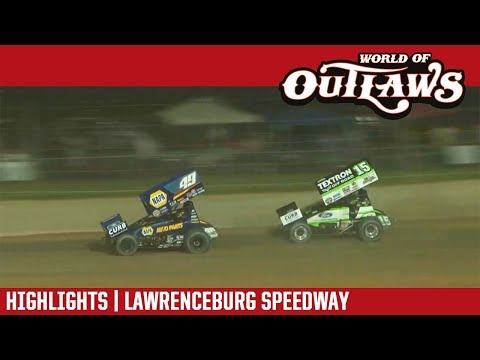 World of Outlaws Craftsman Sprint Cars Lawrenceburg Speedway May 28, 2018 | HIGHLIGHTS
