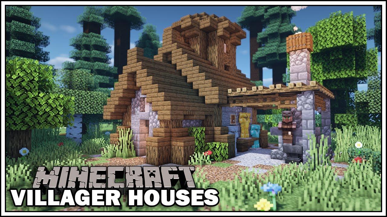 Minecraft Villager Houses - THE ARMORER [Small Blacksmith Tutorial]
