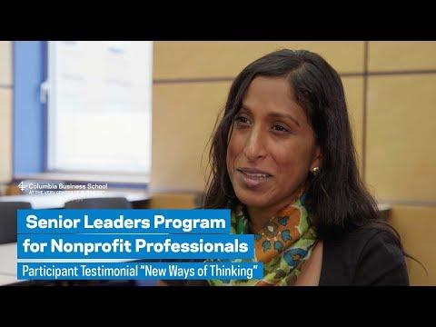 "Senior Leaders Program: Participant Testimonial ""New Ways of Thinking"""