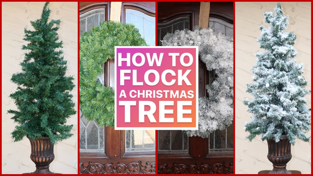 HOW TO FLOCK A CHRISTMAS TREE ( step by step ) / Christmas Decor