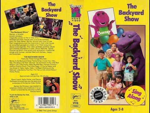 Barney - The Backyard Show (1988) 1992, VHS - YouTube