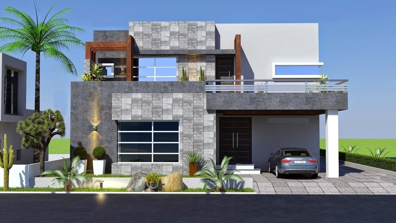 Cute Small Modern House 800 Sft for 8 Lakh | Elevation ...