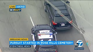 LIVE: A driver is fleeing from police near a Whittier cemetery  | ABC7