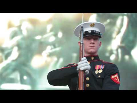 Marine Corps Battle Color Detachment in Times Square