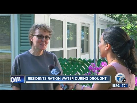 Residents ration water during drought