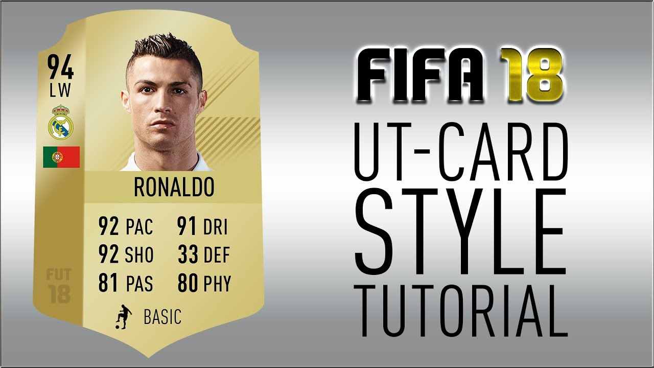 Photoshop Tutorial [FIFA 18] - New FIFA Ultimate Team Card Style ...