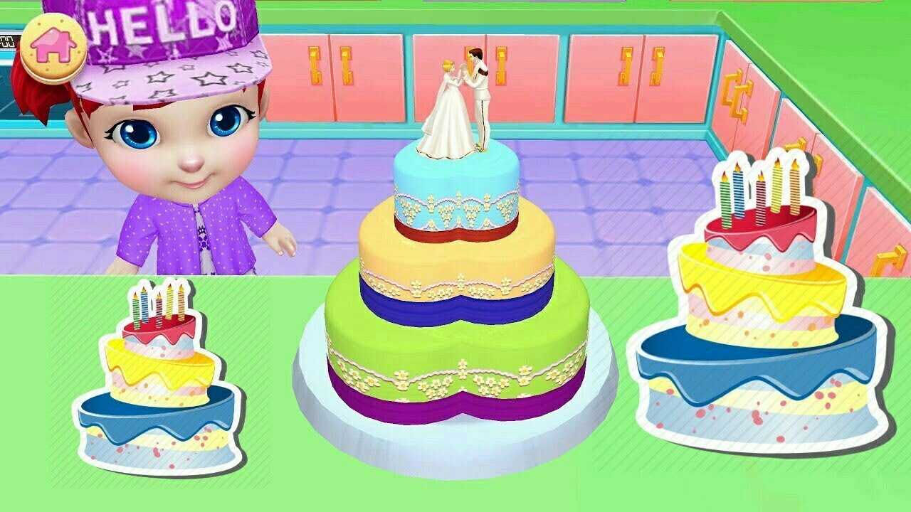 BARBIE CAKE MAKING GAMESbirthday Cake And Flowers GAMESBARBIE DOLL CHILDRENS CAKES
