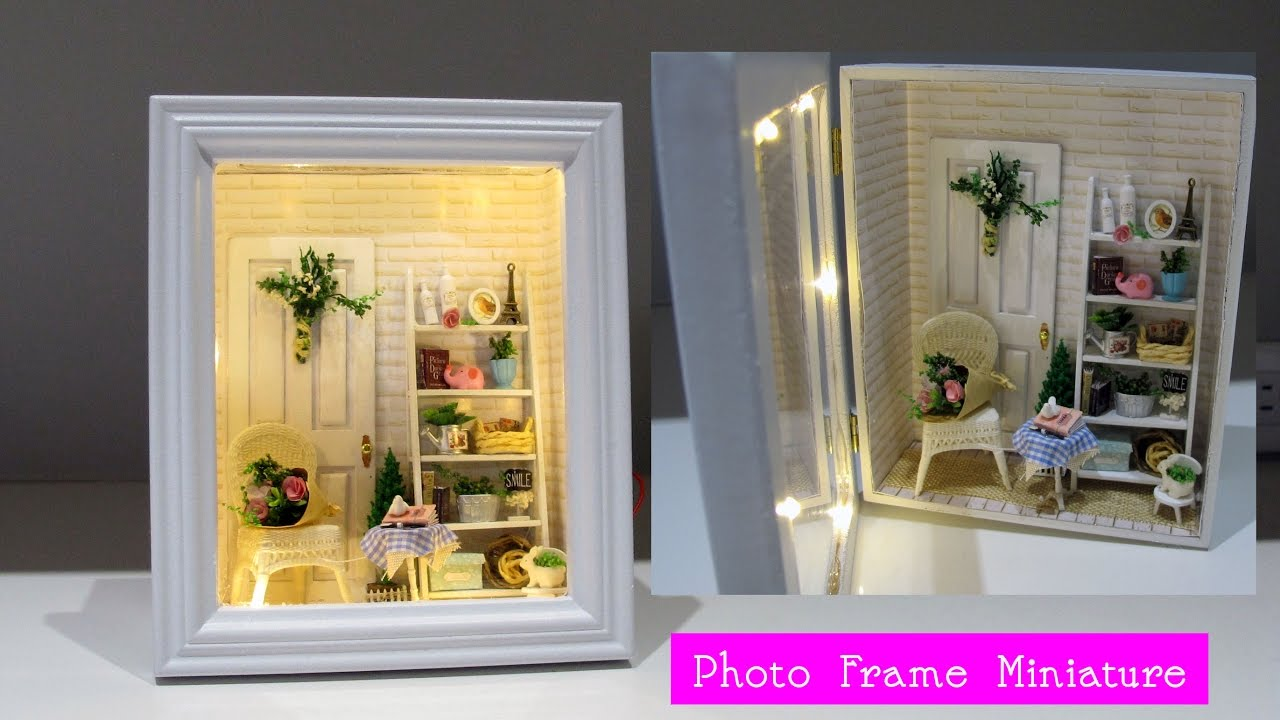 DIY Cute Miniature Room in 3D Photo Frame by Creative World - YouTube