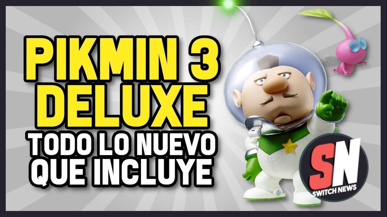 ¡Todo LO NUEVO que incluye PIKMIN 3 DELUXE para Nintendo Switch!