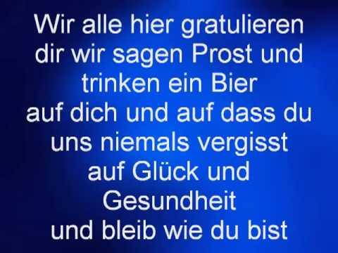 Norbert Und Die Feiglinge Zum Geburtstag Lyrics Youtube