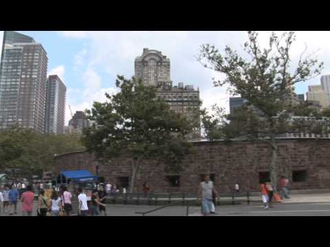 Castle Clinton National Monument and NYC Skyline in New York City