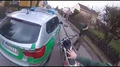 German police pull over motorcyclist while casually eating ice cream 480p