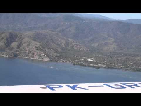 Timor Leste Atterrissage Dili Vol Garuda airlines / East Timor Landing Dili Garuda airlines