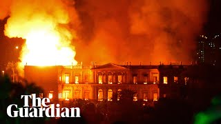 Huge fire guts Brazil's 200-year-old National Museum -  video report