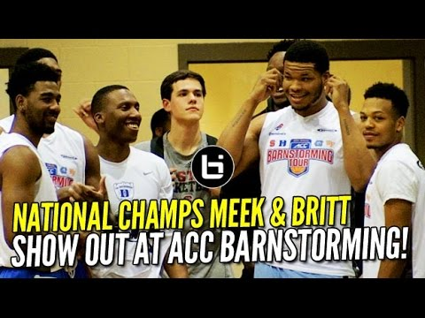 National Champs UNC & Duke ON THE SAME TEAM?! 2017 ACC Barnstorming Highlights Night 1!