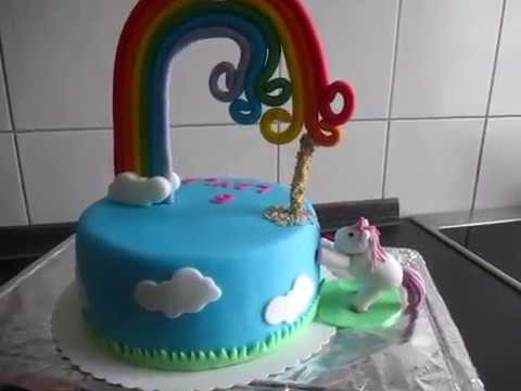 einhorn regenbogen torte geburtstag youtube. Black Bedroom Furniture Sets. Home Design Ideas