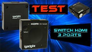 Switch HDMI Igadgitz 3 ports 1080p automatique