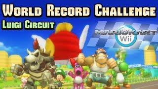 Mario Kart Wii - Luigi Circuit WR Challenge (Item Rain)