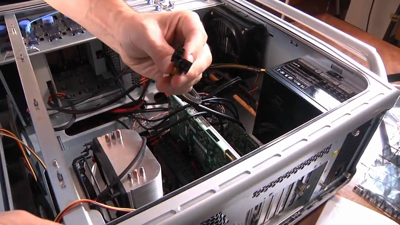 Building A Computer Part 5 Connecting The Power Supply Youtube Connectors 4 Pin Fan Wiring Diagram Wire