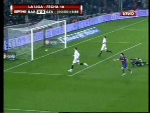 Gol número 100 de Messi en el Barcelona