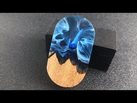 Resin art DIY| Charming DIY Flower cloud wood | DIY craft epoxy resin art jewelry