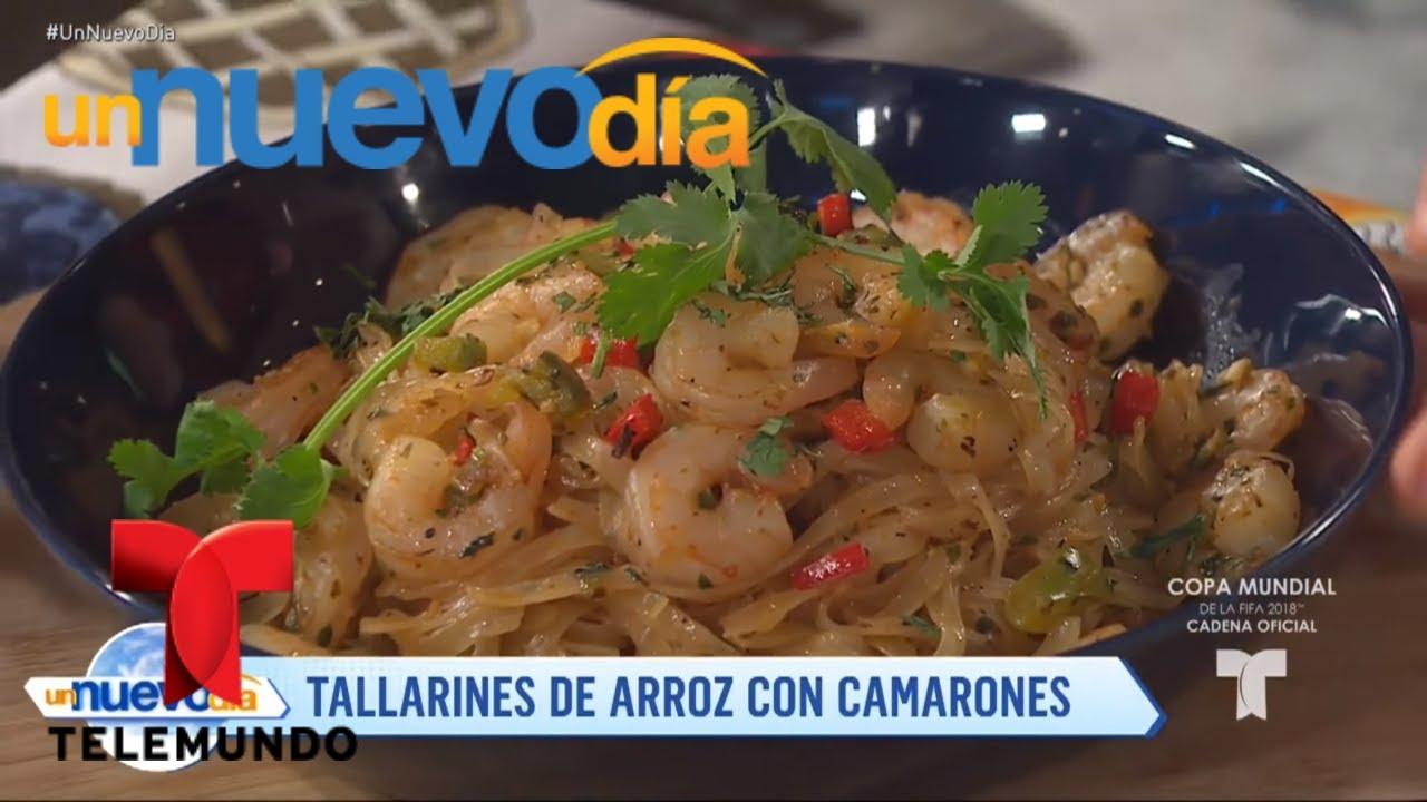 Recetas de cocina: Tallarines de Arroz con Camarones | Un Nuevo Día |  Telemundo