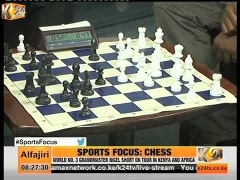 Chess Grandmaster  Nigel Short Playing Chess on K24 Alfajiri