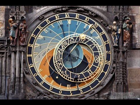 Prague Astronomical Clock on the Old Town Square