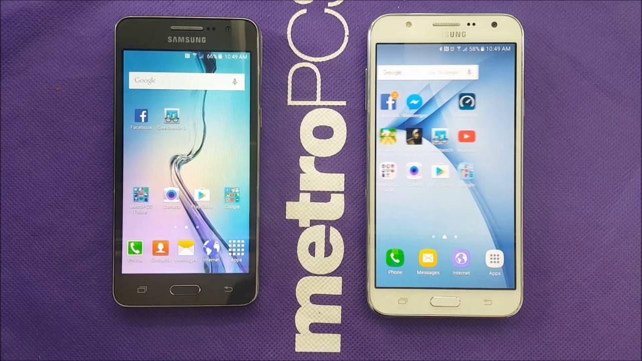Samsung Galaxy J7 Vs Grand Prime Full Comparison For Metro Pcs