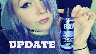 RAW Lavender Cloud Hair Dye//Review On Blonde Hair UPDATE.