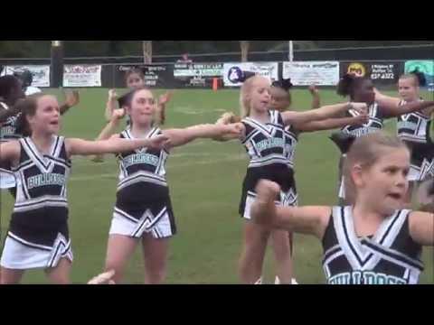 Bluffton peewees 2015 cheer vs Hardeeville