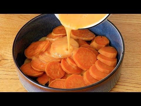 紅薯裡面加2個雞蛋,教你無水新做法,筷子攪一攪,比油條還好吃【夏媽廚房】