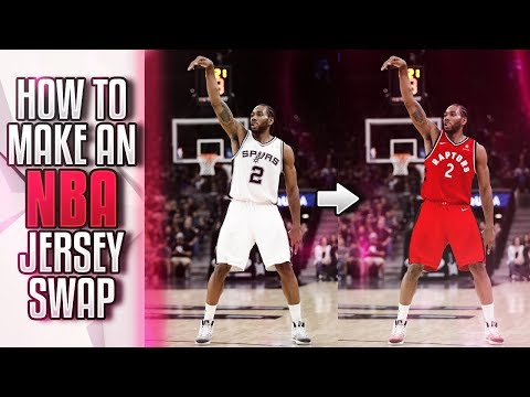 HOW TO CREATE NBA JERSEY SWAPS FOR BEGINNERS! FASTEST AND EASIEST METHOD/TUTORIAL!!   Photoshop CC