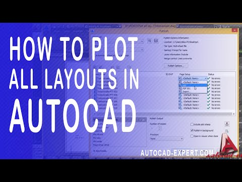 How to print all layout in autocad. Plot all layouts from one clikc in autocad to PDF.