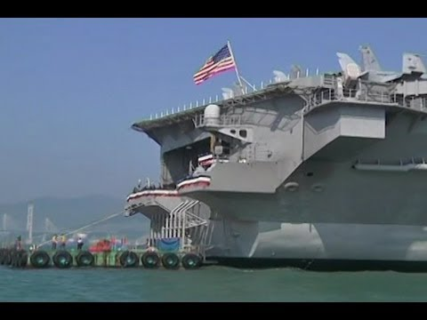 US Supercarrier Docks in Hong Kong