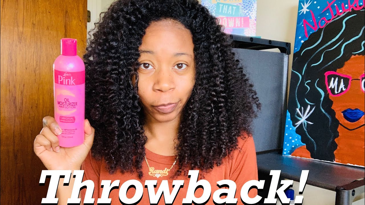 Lusters Pink Oil Moisturizer on Natural hair | Lets take it back to the old school!