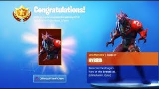"Hybrid Skin Stage 3 Gameplay (Dragon Skin) Use Code: ""DREWQUA_"" - PS4 Fortnite Player *LIVE*"