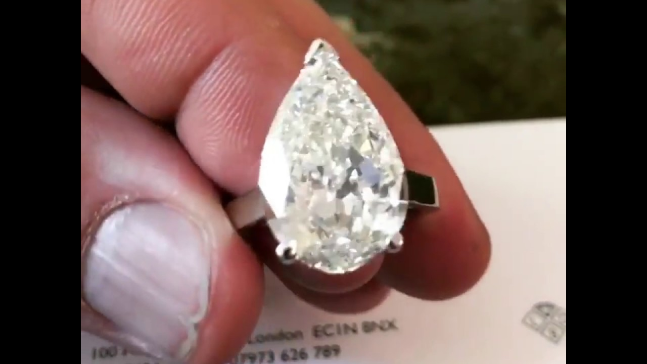 10 carat pear shape diamond engagement ring youtube. Black Bedroom Furniture Sets. Home Design Ideas