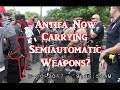Antifa Now Carrying Semiautomatic Weapons?