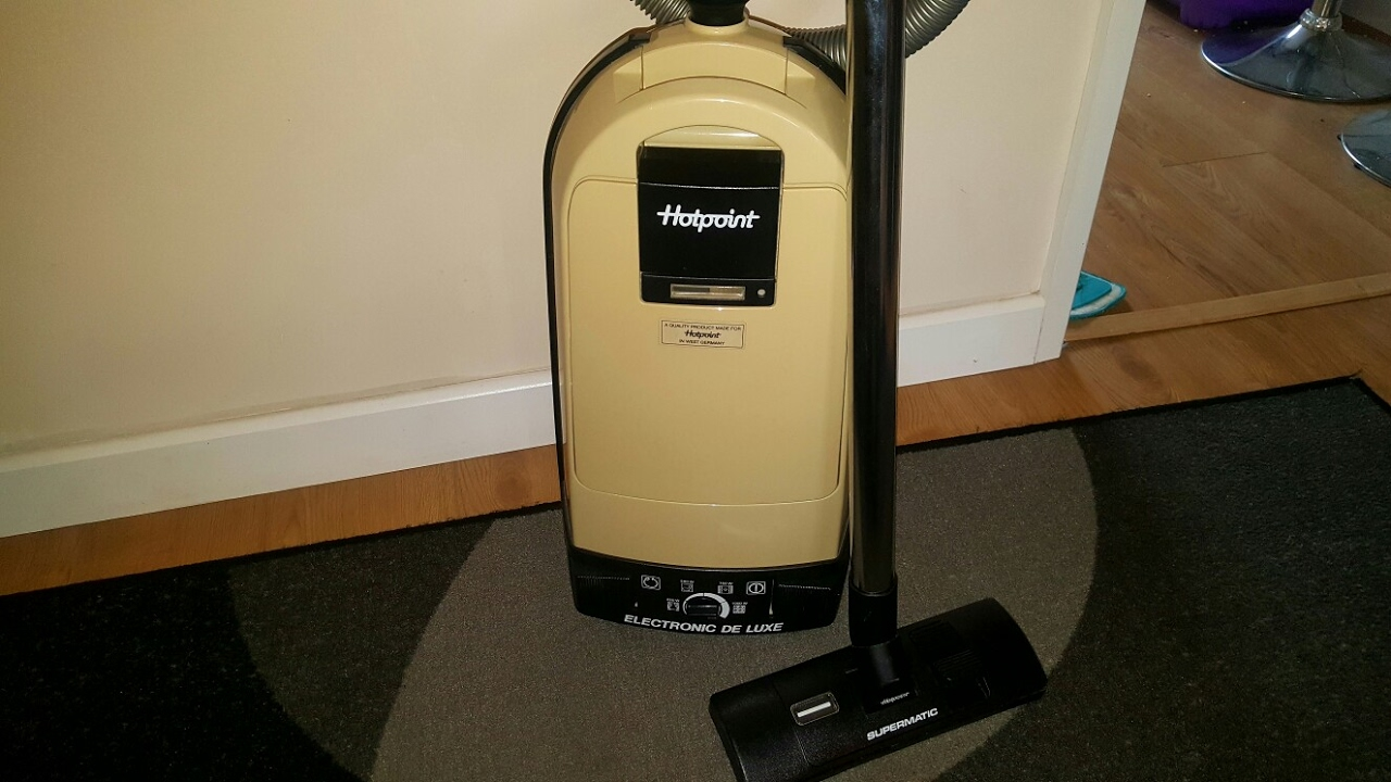 Hotpoint Electronic Deluxe Rare Vintage Vacuum Cleaner