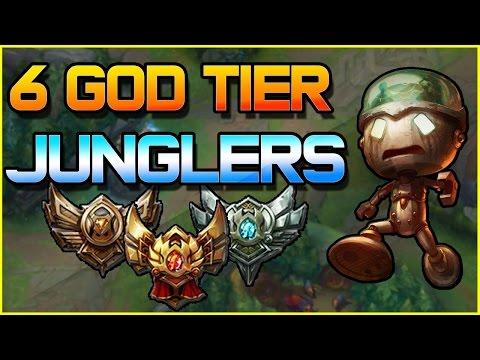 6 God Tier Junglers for Low ELO | League of Legends
