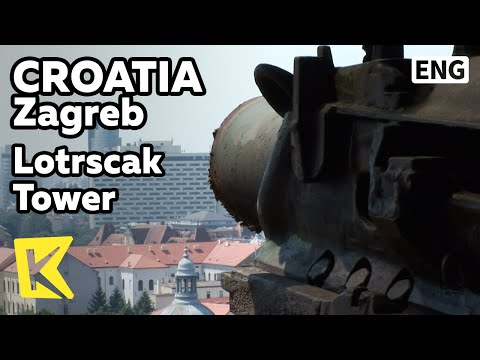 【K】Croatia Travel-Zagreb[크로아티아 여행-자그레브]로트르슈차크 타워, 대포/Lotrscak Tower/Uspinjaca/Cable car/View/gun