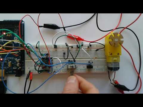 Project 16 - DC motor speed and direction control using arduino