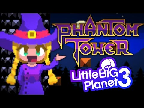 Phantom Tower Part 1 - LittleBigPlanet 3 2D 8 Bit Style Platformer - PS4 Gameplay
