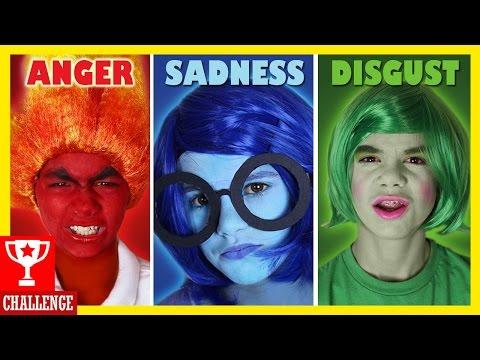 Inside Out Facepaint Challenge! Cosplay Makeup! Spon by Disney Pixar