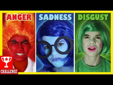 Inside Out Facepaint Challenge! Cosplay Makeup! Spon by Disney Pixar