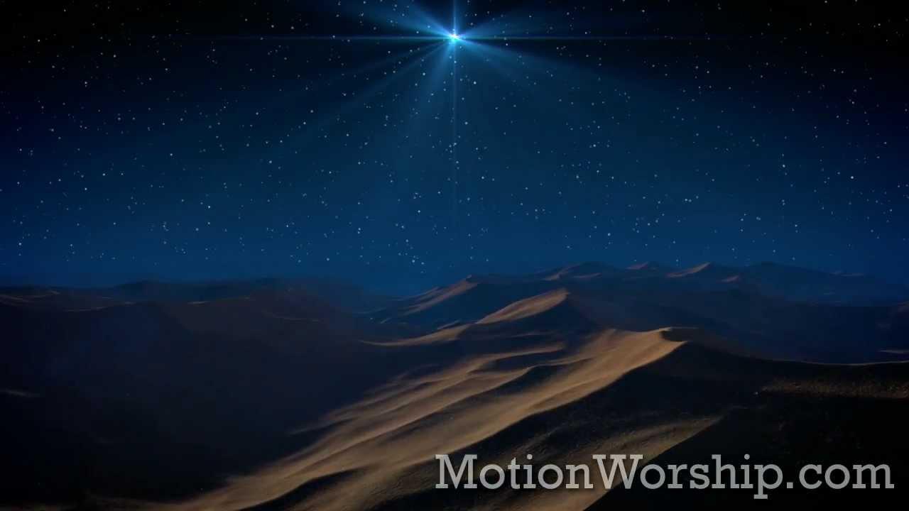 Christmas Star Desert Flyover HD Loop by Motion Worship - YouTube